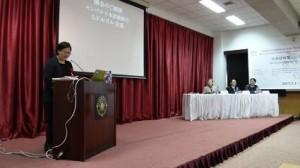 ドルゴル先生(モンゴル日本語教師会会長)のご挨拶