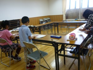取り出し授業をする北川さん