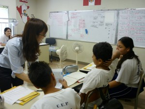 日本の授業を受けています