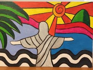 クリスチーナさんが描いた絵「リオデジャネイロ」