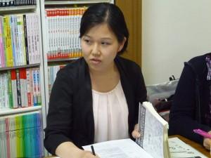 事例報告をする鎌田さん