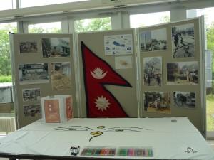 ネパール募金コーナー(学生達が作りました)