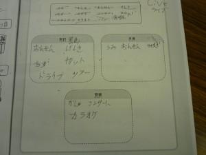 『できる日本語 わたしのことばノート』(温泉は、泳ぐところ?)