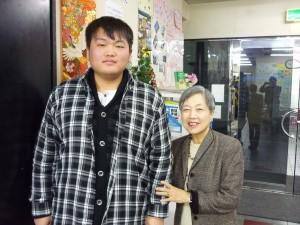 1席になった張明哲さんと2015.12.21