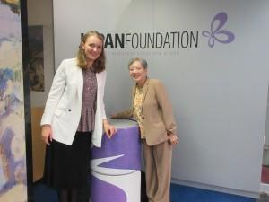 国際交流基金には、アンナさんと一緒に行きました。