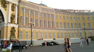 修復中のエルミタージュ美術館