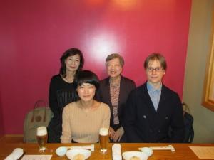 アンティさん夫妻、紹介してくださった千鶴子さんと一緒に
