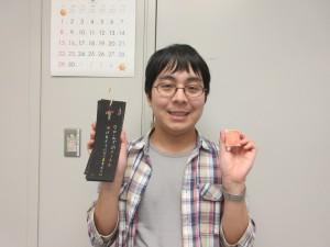 中村礼さん→「中村礼です。自作の漢字クラフトを開発しています」