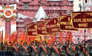 6月24日にモスクワで行われた軍事パレードの様子