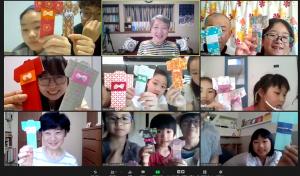 今日のオンライン折り紙教室は「日本の着物」です。