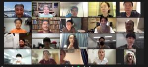 明治大学の学生さんと留学生達がオンラインミーティングをしました。